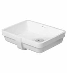 Duravit Vero 16 7/8 inch Undermount Porcelain Bathroom Sink
