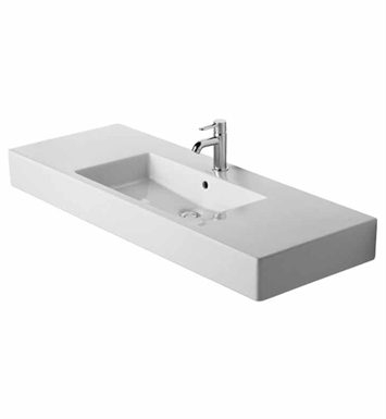 Duravit 03291200 Vero 49 1/4 inch Vessel Porcelain Bathroom Sink