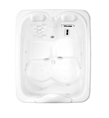 Aquatic AI7MIL7257-WH Millennium Two-Person Air-Whirlpool Bathtub With Tub Color: White