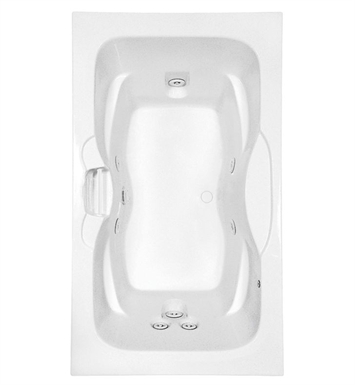 Aquatic AI7242R-BI Estate Clearwater Two-Person Whirlpool Bathtub With Tub Color: Biscuit
