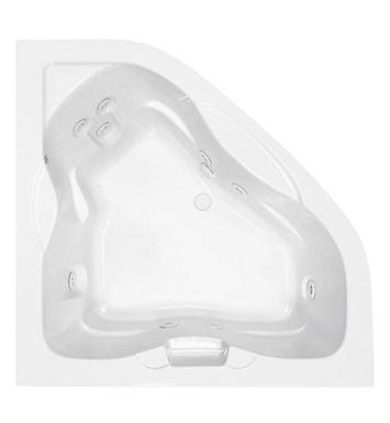 Aquatic AI6060DC-WH Estate Point Arena Two-Person Corner Whirlpool Bathtub With Tub Color: White
