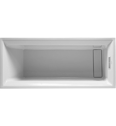 Duravit 2nd Floor Rectangular Customizable Bathtub with Special Waste and Overflow