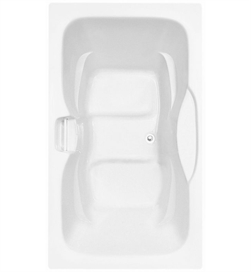 Aquatic AI1AIR7242HS-WH Estate Serenity Two-Person HotSoak Bathtub With Tub Color: White