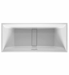 Duravit 2nd Floor Rectangular Customizable Bathtub with Waste and Overflow