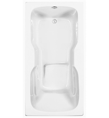 Aquatic AI3AIR7236TO-WH Estate Serenity Soaker Bathtub With Tub Color: White