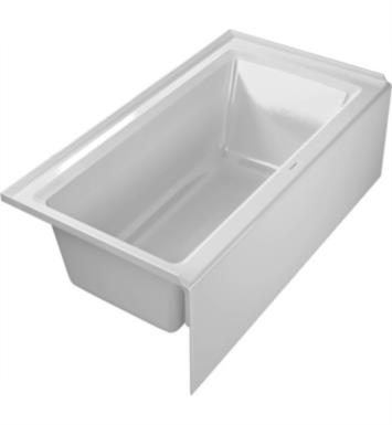 "Duravit 700354000000090 Architec 20 1/2"" Rectangular Alcove Acrylic Soaking Bathtub with Left Drain in White"