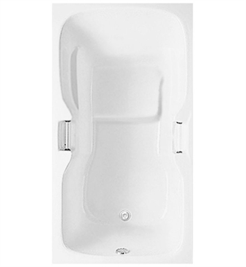 Aquatic AI5AIR6636TO-WH Estate Serenity Soaker Bathtub With Tub Color: White
