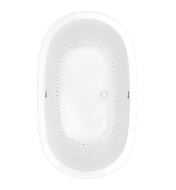 Aquatic AI9AIR7444-BK Estate Serenity Two-Person Oval Air Bathtub With Tub Color: Black