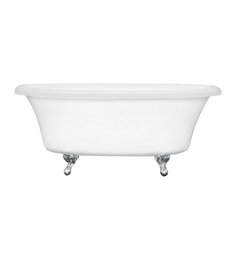 Aquatic Estate AI10AIR7240TO Serenity Two-Person Freestanding Oval Soaker Bathtub