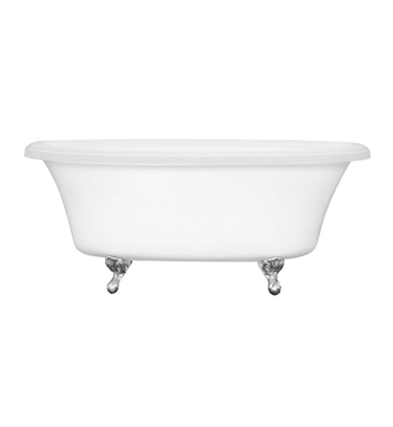 Aquatic AI10AIR7240-WH Estate Serenity Two-Person Freestanding Oval Air Bathtub With Tub Color: White