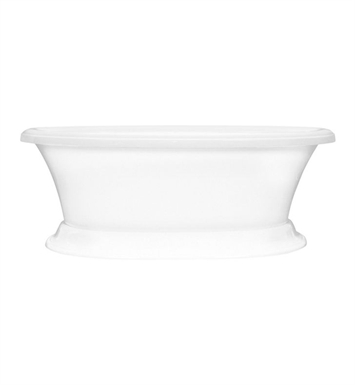 Aquatic AI11AIR7240P-AL Estate Serenity Two-Person Pedestal Oval Air Bathtub With Tub Color: Almond