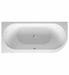 Duravit 70024600 Darling New Bathtub for Corner Left Installations with Acrylic Panel and Support Frame