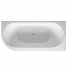Duravit 70024700 Darling New Bathtub for Corner Right Installations with Acrylic Panel and Support Frame