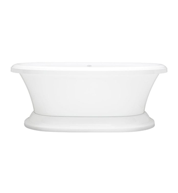 Aquatic AI13AIR6638FTO-WH Estate Serenity Two-Person Pedestal Oval Soaker Bathtub With Tub Color: White