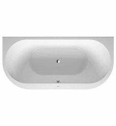 Duravit 70024800 Darling New Bathtub for Back to Wall Installations with Acrylic Panel and Support Frame