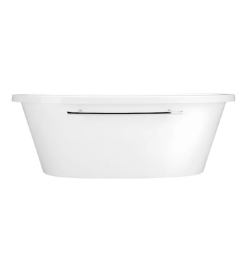 Aquatic AI17AIR7240F-AL Estate Serenity Two-Person Freestanding Oval Air Bathtub With Tub Color: Almond