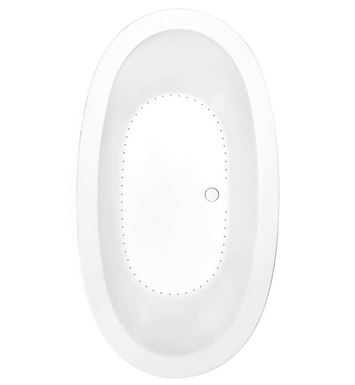 Aquatic AI20AIR7240-BI Estate Serenity Two-Person Oval Air Bathtub With Tub Color: Biscuit