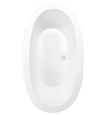 Aquatic AI20AIR7240TO-WH Estate Serenity Two-Person Oval Soaker Bathtub With Tub Color: White