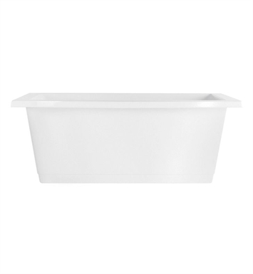 Aquatic AI23AIR7242FTO-SS Estate Serenity Two-Person Freestanding Soaker Bathtub With Tub Color: Sterling Silver