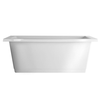 Aquatic AI25AIR7242CFTO-BI Estate Serenity Two-Person Freestanding Soaker Bathtub With Tub Color: Biscuit