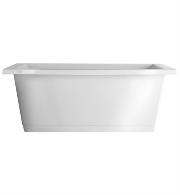Aquatic AI26AIR6636CF-RD Estate Serenity Two-Person Freestanding Air Bathtub With Tub Color: Red
