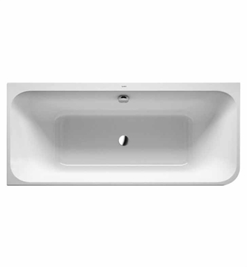 Duravit 700316001541090 Happy D Corner Bathtub with Integrated Acrylic Panel and Support Frame With Jet Mode: Air System with ozone