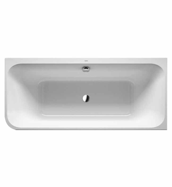 Duravit 700317001461090 Happy D Corner Bathtub with Integrated Acrylic Panel and Support With Jet Mode: Air System with remote