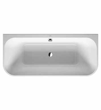 Duravit 700318001571090 Happy D Back- to Wall Bathtub with Integrated Acrylic Panel and Support Frame With Jet Mode: Air System with remote and light
