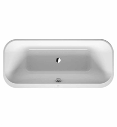 Duravit 70031900 Happy D Freestanding Bathtub with Acrylic Panel and Support Frame