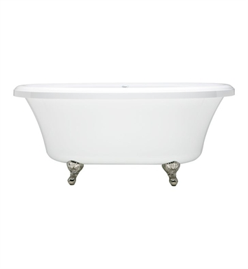 Aquatic AI37AIR6638TO-AL Estate Serenity Two-Person Freestanding Oval Soaker Bathtub With Tub Color: Almond
