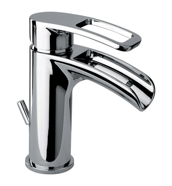 LaToscana 86CR211WFS Ovo Waterfall Single Handle Lavatory Faucet in Chrome