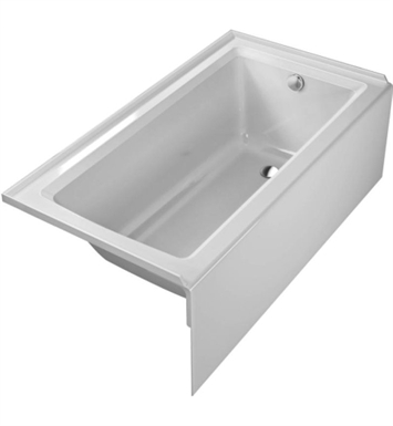 "Duravit 700353000000091 Architec Rectangular Bathtub with Right Hand Drain, 20 3/8"" Integrated Panel and Flange"