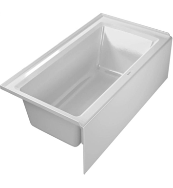 "Duravit 700354000000091 Architec Rectangular Bathtub with Left Hand Drain, 20 3/8"" Integrated Panel and Flange"