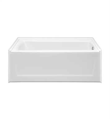 Aquatic AI49AIR6032HSR-SS Estate Serenity HotSoak Bathtub with Extended Skirt With Tub Color: Sterling Silver And Drain Position: Right Side