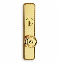 Omnia D25430 Customizable Traditional Deadbolt Entrance Knob Lockset with Plates