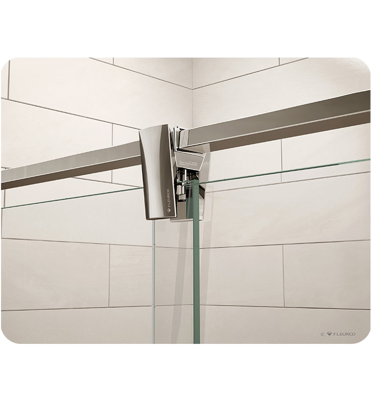 fleurco lx55 luxe axent in line bypass sliding shower On door 55 reviews
