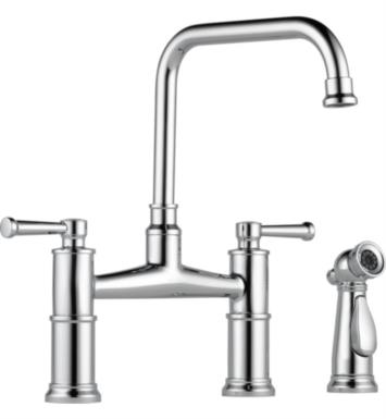 Brizo 62525LF-PC Artesso Two Handle Bridge Kitchen Faucet With Spray With Finish: Chrome