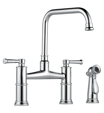 Brizo 62525LF-SS Artesso Two Handle Bridge Kitchen Faucet with Spray With Finish: Stainless