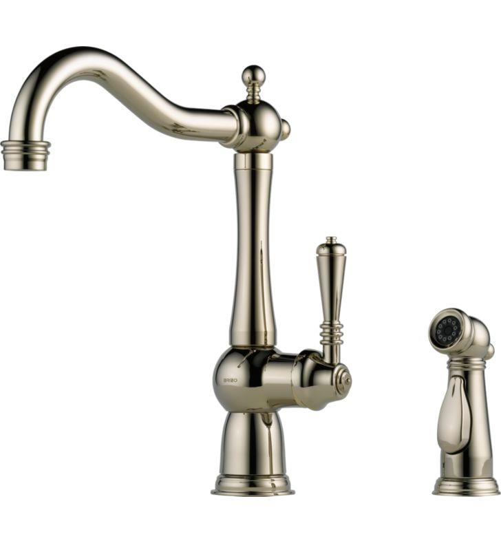 Brizo Lf Ss Tresa Stainless Steel Kitchen Faucet With Spray