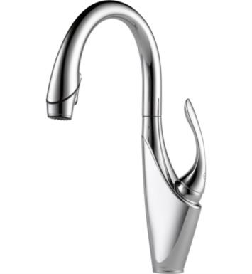 Brizo 63055LF-PCMW Vuelo Single Handle Pull-Down Kitchen Faucet With Finish: Polished Chrome/Matte White