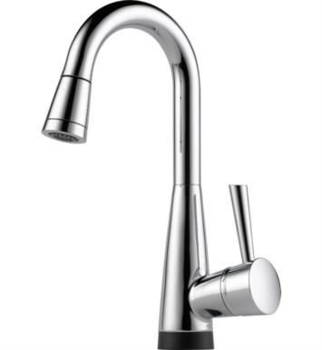 Brizo 64970LF-PC Venuto Single Handle Pull-Down Bar/Prep Faucet With Smarttouch(R) Technology With Finish: Chrome