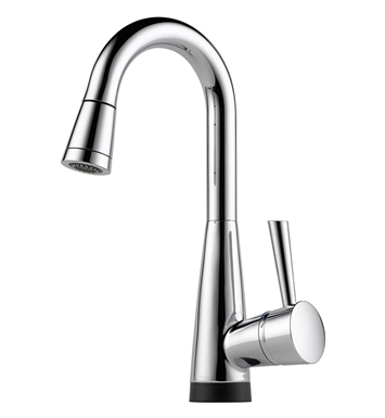 Brizo 64970LF-PC Venuto Single Handle Pull-Down Bar/Prep Faucet with Smarttouch Technology With Finish: Chrome