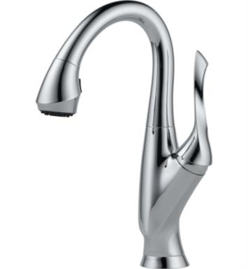 Brizo 63952LF-SS Belo Single Handle Pull-Down Bar/Prep Faucet With Finish: Stainless Steel