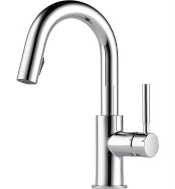 Brizo 63920LF-SS Solna Single Handle Pull-Down Bar/Prep Faucet With Finish: Stainless Steel