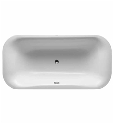 Duravit 70018500 PuraVida Rectangular Bathtub with Support Frame and Acrylic Panel