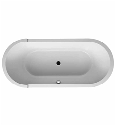 Duravit 70001000 Starck Oval, Freestanding Bathtub with Acrylic Panel and Support Frame