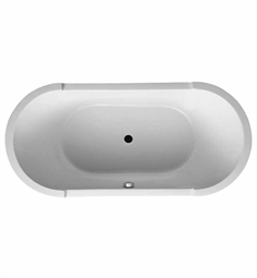 Duravit 70001200 Starck Oval, Freestanding Bathtub with Acrylic Panel and Support Frame