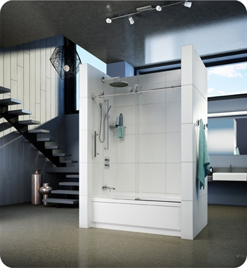 Fleurco KN059 KN Kinetik 59 Sliding Tub Door and Fixed Panel