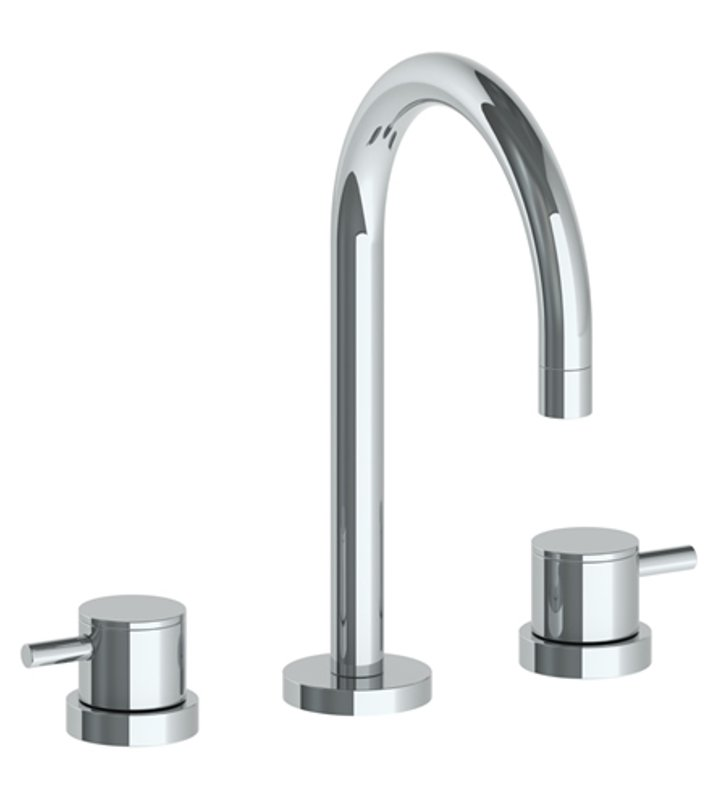 watermark 22 2 tib titanium widespread bathroom faucet with round