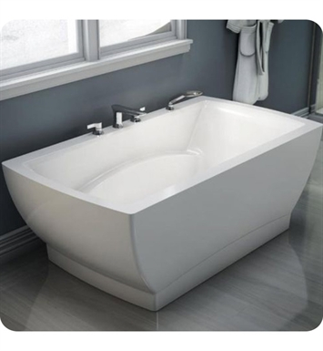 "Neptune BE3666FM Believe 65"" x 35"" Customizable Rectangular Freestanding Bathroom Tub With Jet Mode: Mass-Air Jets"